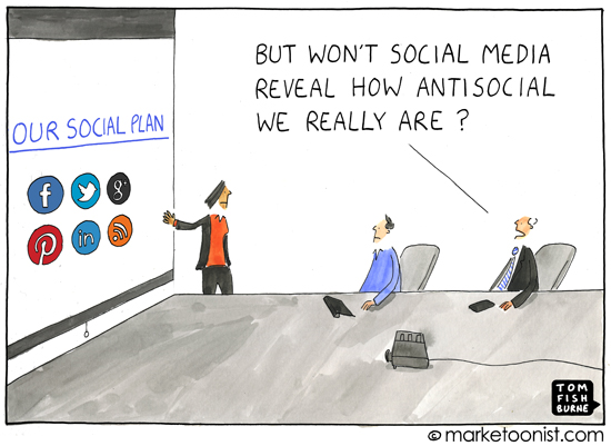 Marketing brilliance from Tom Fishburne via Marketoonist.com